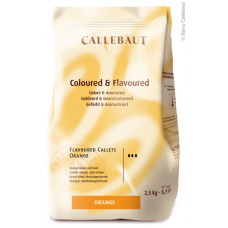 Callebaut Callets Orange - 2,5 kilo