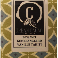 Chocoladereep - Gemelangeerd Vanille Tahiti - Wit - 30%
